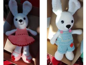 Iepuras tricotat - Jucarii tricotate